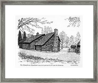 Ohio Schoolhouse, 1772 Framed Print