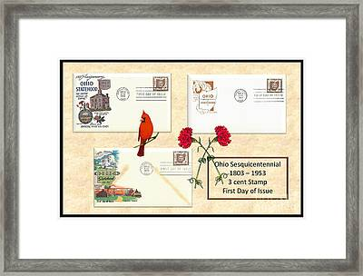 Ohio Sesquicentennial First Day Covers Framed Print