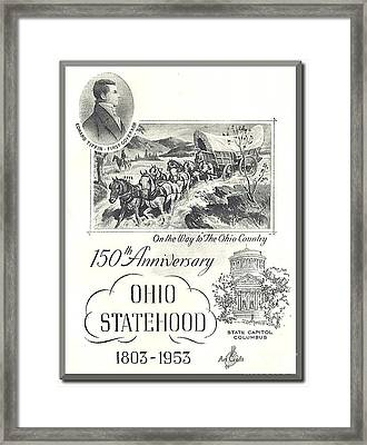 Ohio Sesquicentennial Poster Framed Print by Charles Robinson