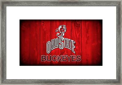 Ohio State Buckeyes Barn Door Vignette Framed Print