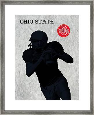Ohio State Football Framed Print by David Dehner