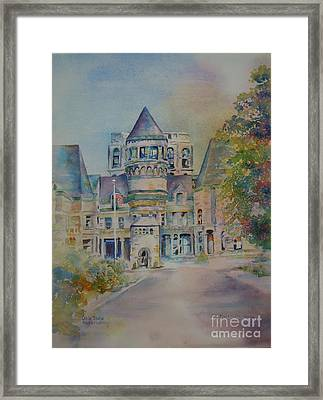Framed Print featuring the painting Ohio State Reformatory by Mary Haley-Rocks
