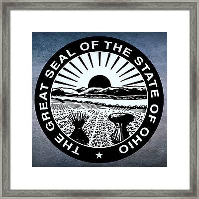 Ohio State Seal Framed Print