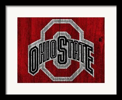 Ohio Red Framed Prints