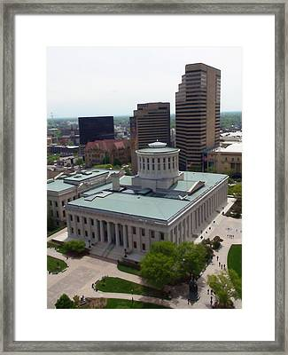 Ohio Statehouse Framed Print by Sanford