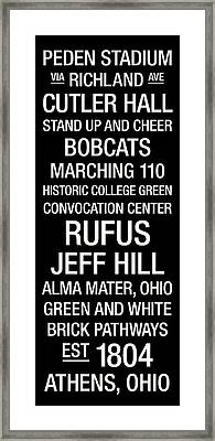 Ohio University College Town Wall Art Framed Print
