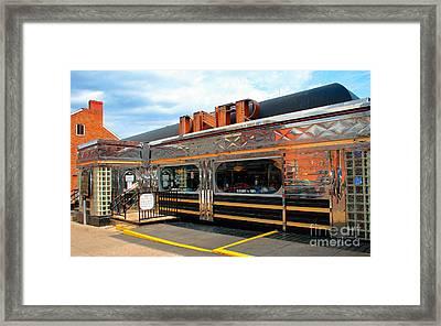 Ohio University Court Street Diner Framed Print