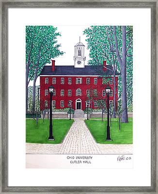 Ohio University Framed Print by Frederic Kohli