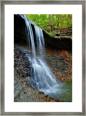 Ohio Waterfall Framed Print by Frozen in Time Fine Art Photography