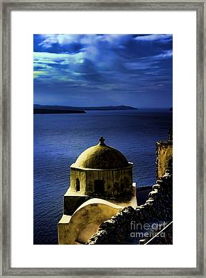 Oia Greece Framed Print by Tom Prendergast