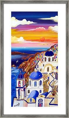Oia Santorini Greece Framed Print