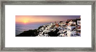 Oia - Santorini Framed Print by Rod McLean