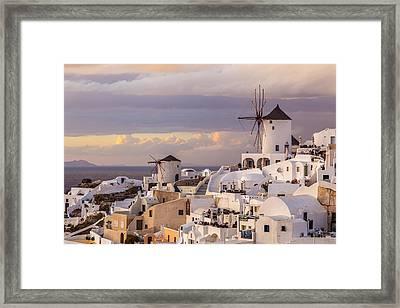 Oia Windmill Framed Print