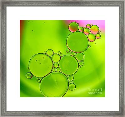 Oil 15 Framed Print by Rebecca Cozart