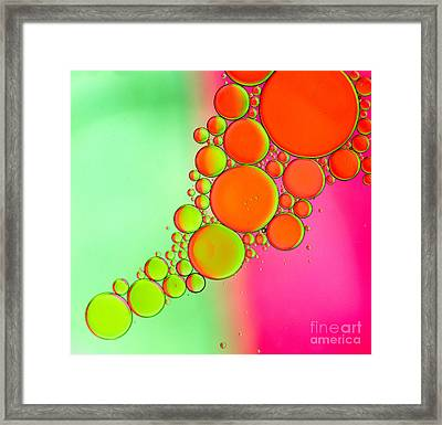 Oil 5 Framed Print by Rebecca Cozart