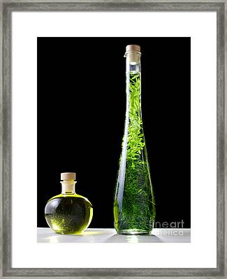 Oil And Alcohol Framed Print