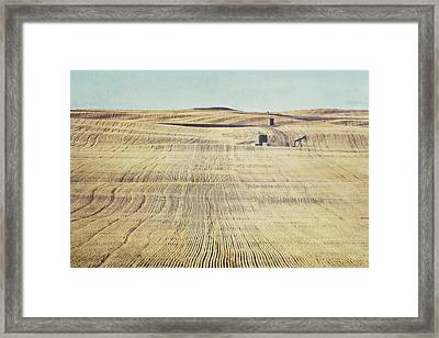 Oil And Gas Activity Among Framed Print by Roberta Murray