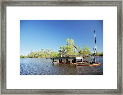 Oil And Gas Industry Framed Print by Jim West