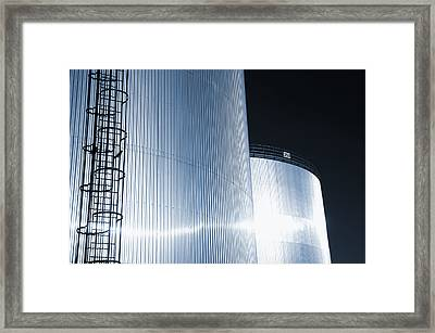 Oil And Gas Refinery Framed Print by Christian Lagereek
