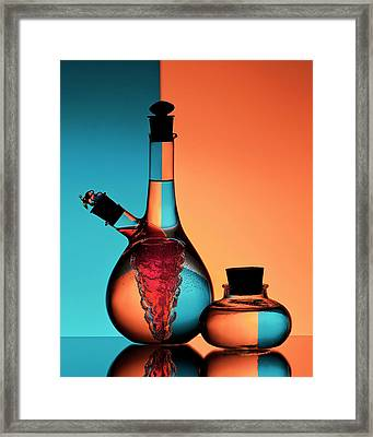 Oil And Vinegar Framed Print by Aida Ianeva