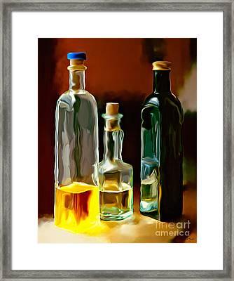 Oil And Vinegar Framed Print
