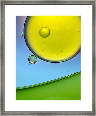 Oil And Water 26 Framed Print by Rebecca Cozart