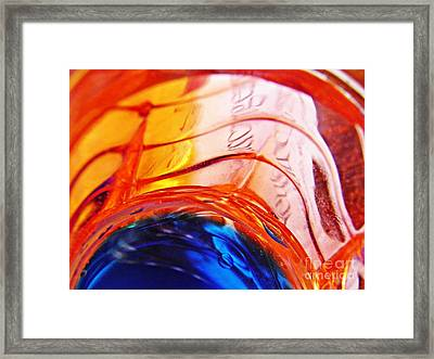 Oil And Water 26 Framed Print by Sarah Loft