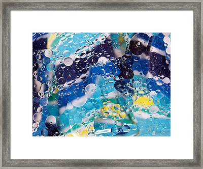 Framed Print featuring the photograph Oil And Water by Roseann Errigo