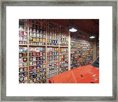 Oil Can Collection Framed Print by Thomas Woolworth