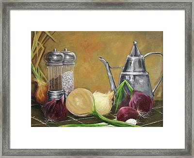 Oil Can Still Life Framed Print