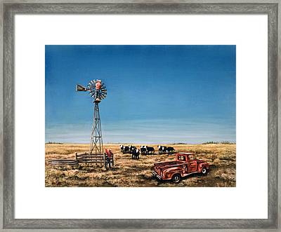 Oil Change Framed Print by Laurie Tietjen