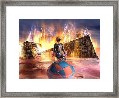 Oil Child Night Of The Fire #19_dd Framed Print by Stephen Donoho