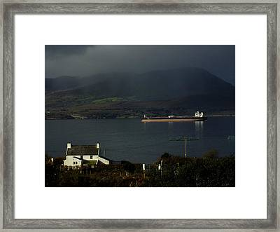Oil Delivery Framed Print