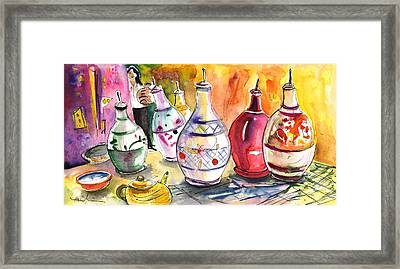 Oil Dispensers From Taormina Framed Print by Miki De Goodaboom