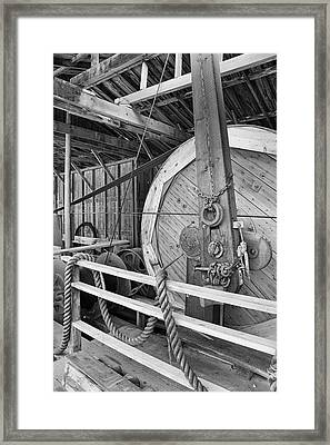 Oil Drill Flywheel Framed Print