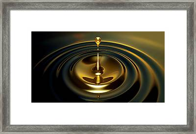 Oil Droplet Framed Print by Allan Swart