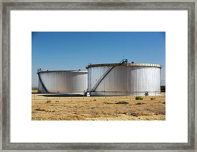 Oil Field Infrastructure Framed Print by Ashley Cooper