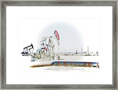 Framed Print featuring the photograph Oil Field by Joel Loftus