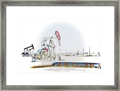 Oil Field Framed Print by Joel Loftus