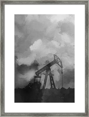 Oil Field Framed Print by Steve K
