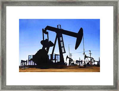 Oil Fields Framed Print
