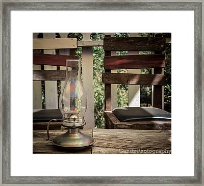 Framed Print featuring the digital art Oil Lamp 2 by Gandz Photography