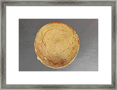 Oil Lamp Early Bronze 3000bc From Jericho Framed Print by Dale Bargmann