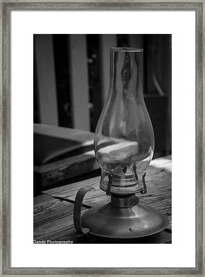 Framed Print featuring the digital art Oil Lamp by Gandz Photography