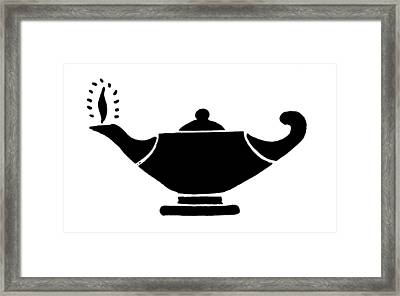 Oil Lamp Symbol Framed Print