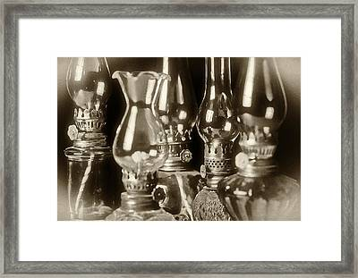 Oil Lamps Framed Print by Patrick M Lynch