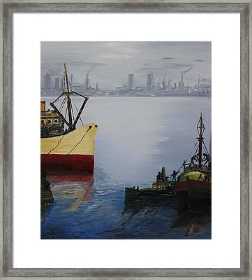 Oil Msc 025  Framed Print