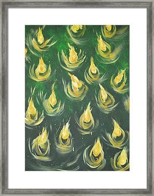 Oil Of Joy Framed Print by Denise Warsalla