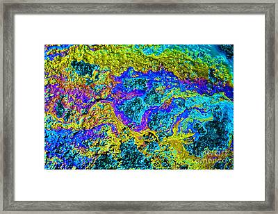 Oil On Pavement Infrared Waters Framed Print