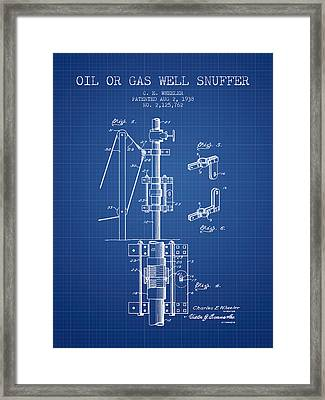 Oil Or Gas Well Snuffer Patent From 1938 - Blueprint Framed Print
